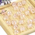 Beads, Selenial Crystal, Crystal, Light pink AB, Faceted Discs, 8mm x 8mm x 6mm, 10 Beads, [ZZC108]